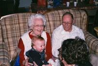 Eli, Paula, Rachel, Grandpa Christmas 2010