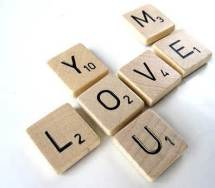 Scrabble Love Message