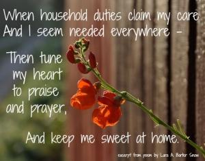 Sweet At Home Poem