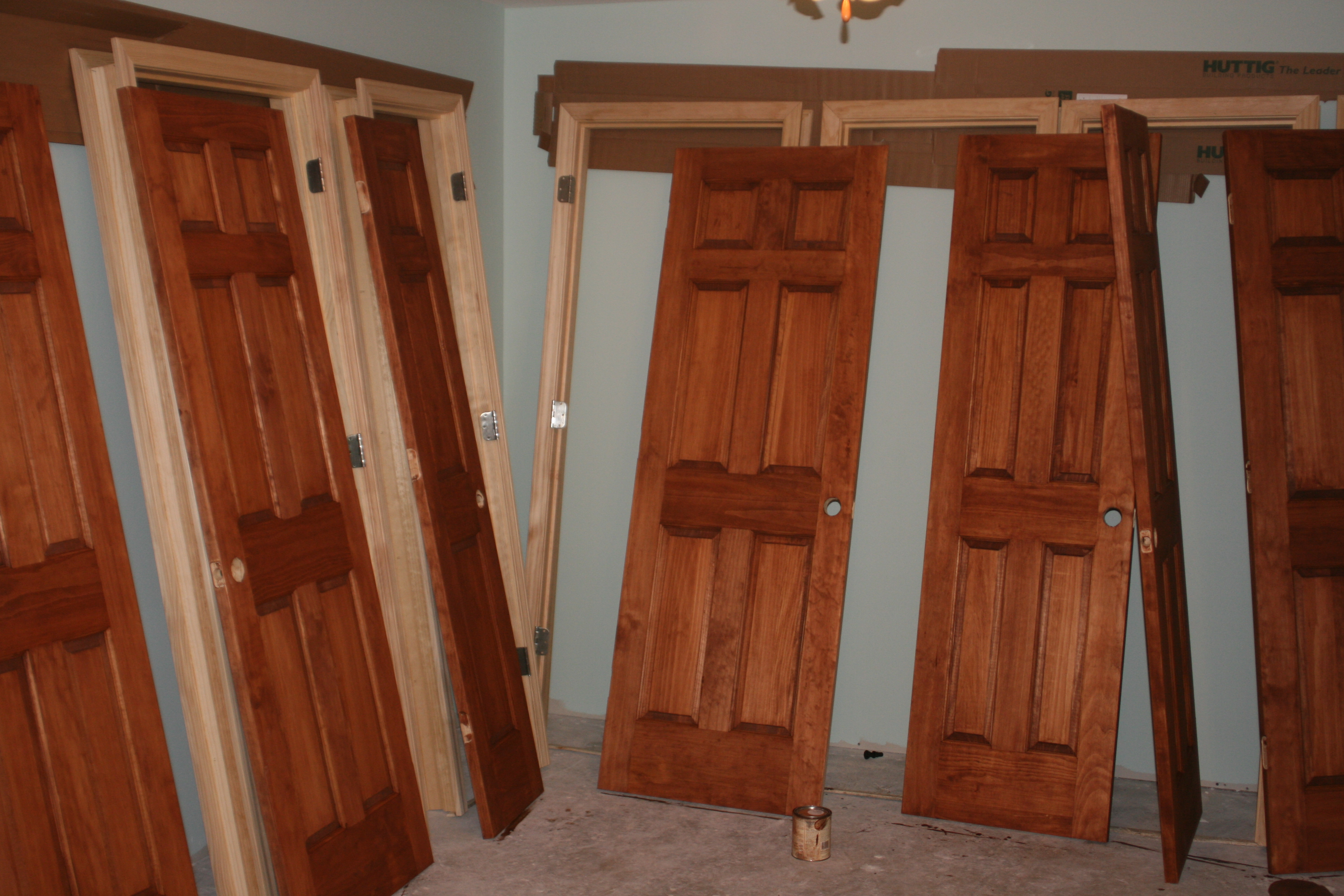 Stained Solid Pine Doors