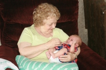 Great-Grandma & Elise July 4 2016