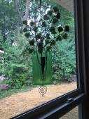 Diffused Green Glass Window Pocket