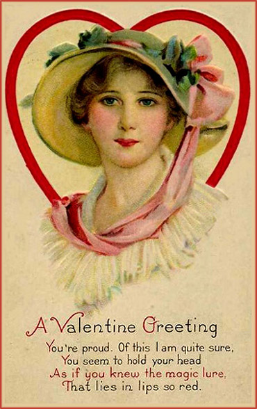 valentine-cards-vintage-greeting-woman-in-heart