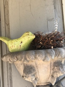 Porch Greeter Bird & Her Nest