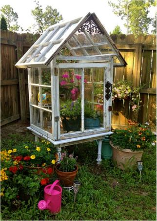 repurposed-furniture-garden-shed