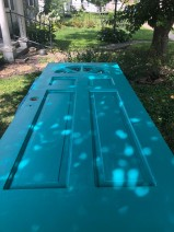 First Coat of Nifty Turquoise