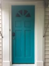 Freshly Painted Front Door
