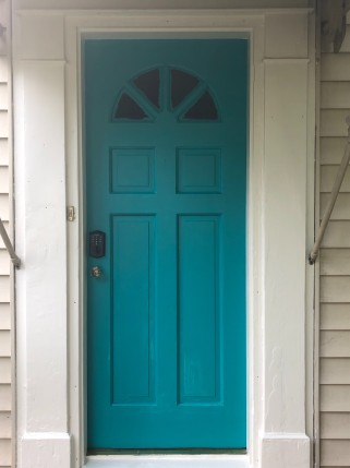 Freshly Painted Front Door