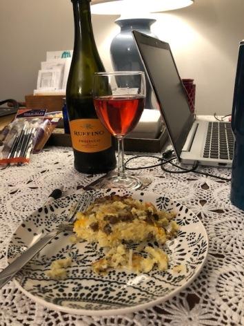 Egg Casserole & Cranberry Mimosas