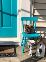 NIfty Turquoise Door and Chair